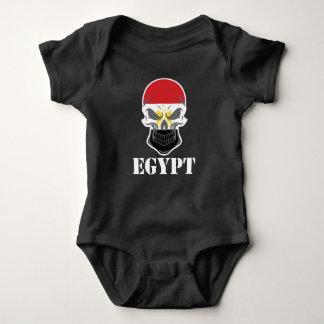 Body Para Bebê Crânio egípcio Egipto da bandeira