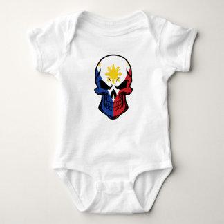 Body Para Bebê Crânio filipino da bandeira