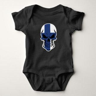 Body Para Bebê Crânio finlandês da bandeira