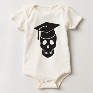 Body Para Bebê crânio graduado da escola