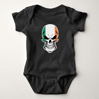 Body Para Bebê Crânio irlandês da bandeira