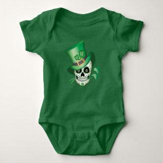 Body Para Bebê Crânio irlandês do açúcar