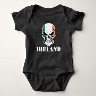 Body Para Bebê Crânio irlandês Ireland da bandeira
