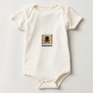 Body Para Bebê crânio no quadro preto