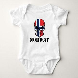 Body Para Bebê Crânio norueguês Noruega da bandeira