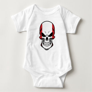 Body Para Bebê Crânio peruano da bandeira