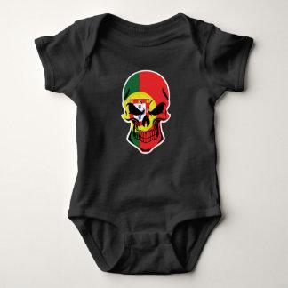 Body Para Bebê Crânio português da bandeira