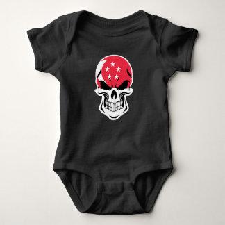 Body Para Bebê Crânio singapurense da bandeira