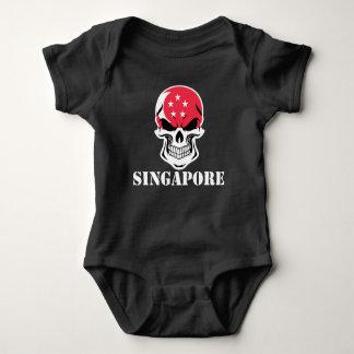 Body Para Bebê Crânio singapurense Singapore da bandeira