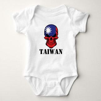 Body Para Bebê Crânio taiwanês Formosa da bandeira