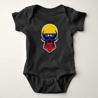 Body Para Bebê Crânio venezuelano da bandeira