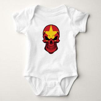 Body Para Bebê Crânio vietnamiano da bandeira
