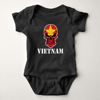 Body Para Bebê Crânio vietnamiano Vietnam da bandeira