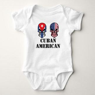 Body Para Bebê Crânios cubanos da bandeira americana