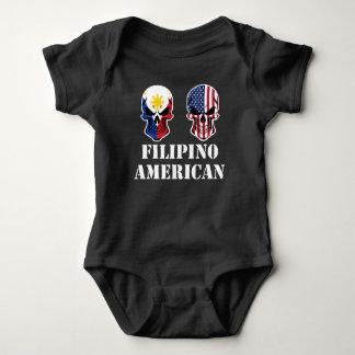 Body Para Bebê Crânios filipinos da bandeira americana
