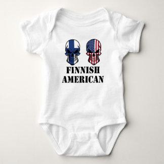 Body Para Bebê Crânios finlandeses da bandeira americana