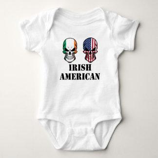 Body Para Bebê Crânios irlandeses da bandeira americana