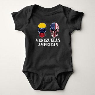 Body Para Bebê Crânios venezuelanos da bandeira americana