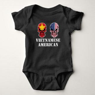 Body Para Bebê Crânios vietnamianos da bandeira americana