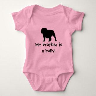 Body Para Bebê Creeper cor-de-rosa da intimidação do irmão