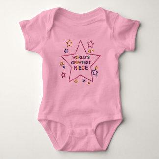 Body Para Bebê Creeper da criança da sobrinha da estrela dos