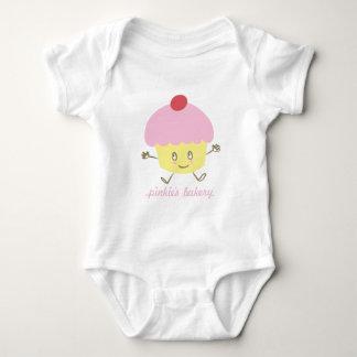 Body Para Bebê Creeper da criança do cupcake da padaria do Pinkie