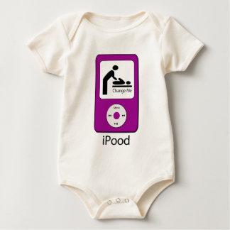 Body Para Bebê Creeper da criança do iPood
