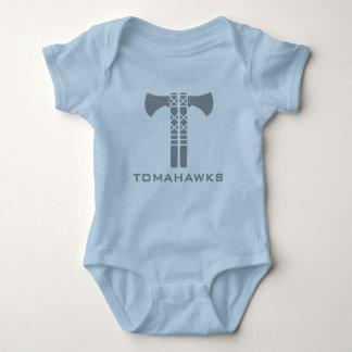 Body Para Bebê Creeper da criança dos Tomahawks