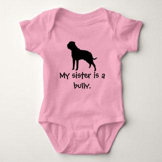 Body Para Bebê Creeper da irmã da intimidação