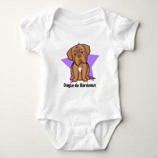 Body Para Bebê Creeper de Kawaii Estrela Dogue de Bordéus Bebê