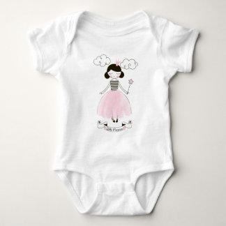 Body Para Bebê Creeper do bebê da menina da princesa