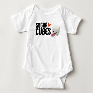Body Para Bebê Creeper do bebê do cubo do açúcar