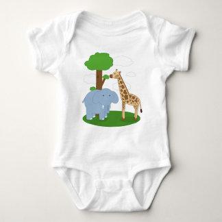 Body Para Bebê Creeper do bebê do safari da criança