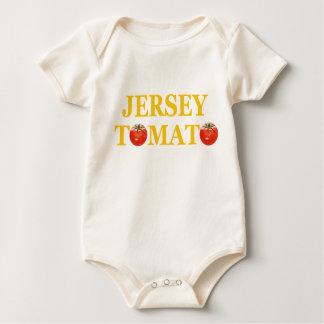 Body Para Bebê Creeper do bebê do tomate do jérsei
