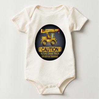 Body Para Bebê Creeper futuro do camionista do guindaste