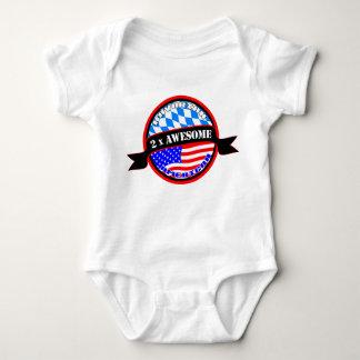 Body Para Bebê Creeper impressionante bávaro do bebê do americano