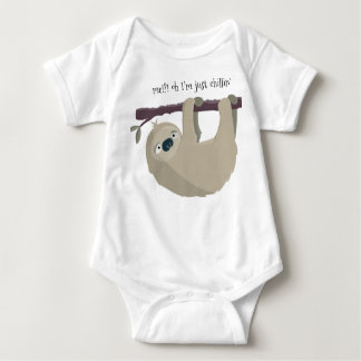 """Body Para Bebê """"Creeper infantil apenas de Chillin"""" da preguiça"""