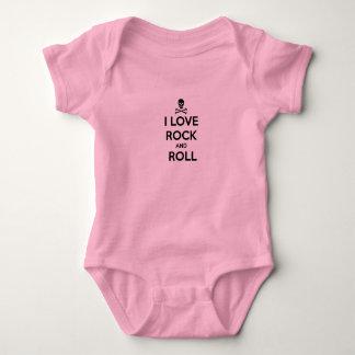 Body Para Bebê creeper infantil, eu amo o rock and roll