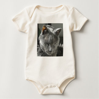 Body Para Bebê Creeper infantil Onsie do gato cinzento