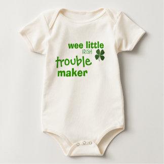 Body Para Bebê Creeper irlandês pequeno pequenino da criança do