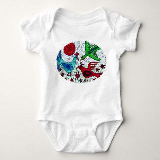 Body Para Bebê Creeper maia da criança dos pássaros