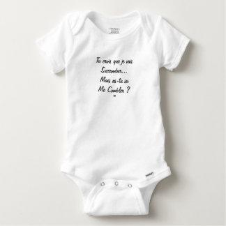 Body Para Bebê crês que vou sucumbir mas você soube?