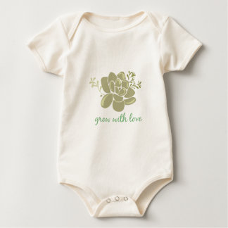 Body Para Bebê Crescimento com amor