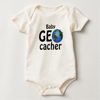 Body Para Bebê Criança do costume de Geocaching da terra de