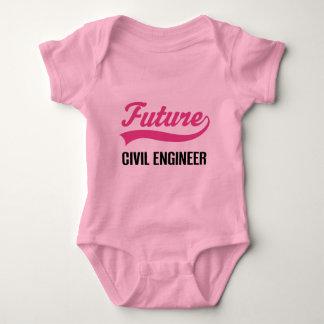 Body Para Bebê Criança do engenheiro civil (futuro)