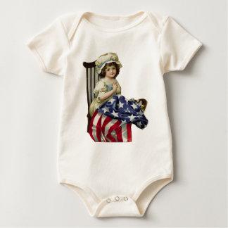 Body Para Bebê Criando a bandeira
