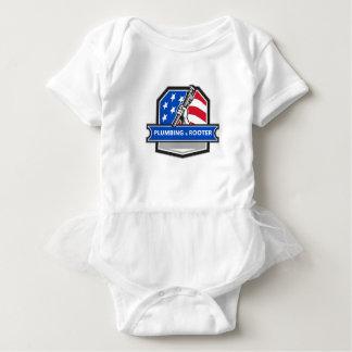 Body Para Bebê Crista da bandeira dos EUA da chave de tubulação
