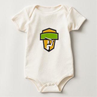 Body Para Bebê Crista da batedura do jogador do grilo retro