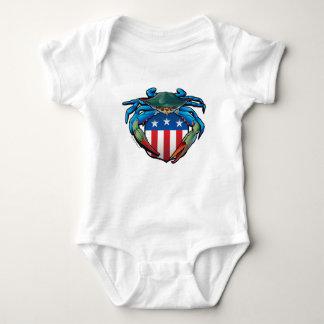 Body Para Bebê Crista dos EUA do caranguejo azul