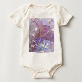 Body Para Bebê Cristais cor-de-rosa da aura
